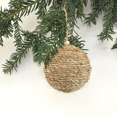 Natural Rope Bauble - Small