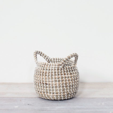 Mini Seagrass Basket with Handles