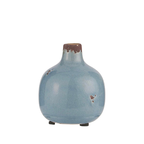 Small Ceramic Pot Blue