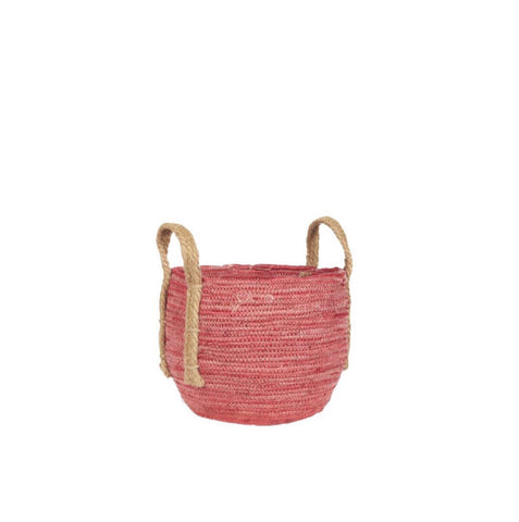 Small Pink Rustic Basket