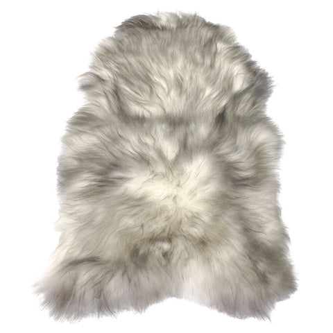 Single Sheepskin in Grey Tipped Ivory