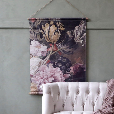 Floral Canvas Wallhanging - Small