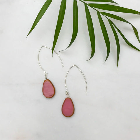 Picasso Pink Drop Earrings