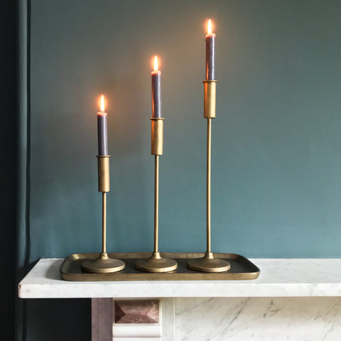 Brass Metal Candlestick Medium