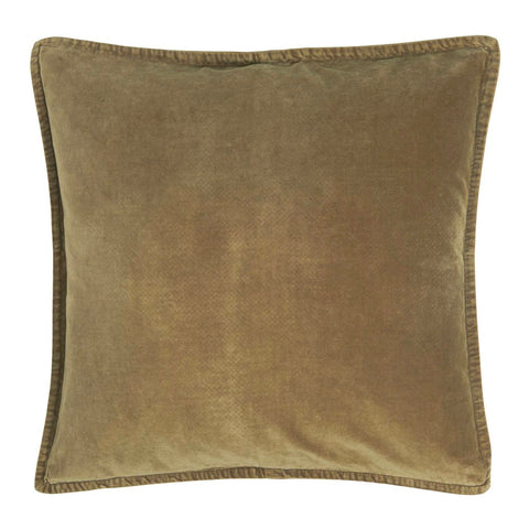 Velvet Cushion Earthy Green