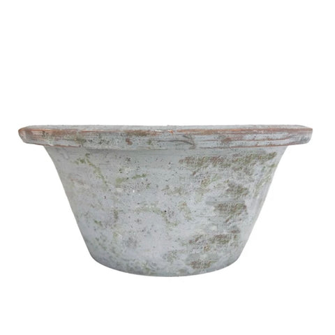 Grey Wash Shallow Planter