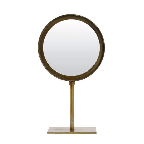 Bronze Mirror on Stand