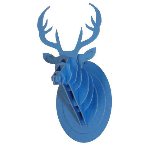 Trophy Mini Deer Wall Decoration - Blue