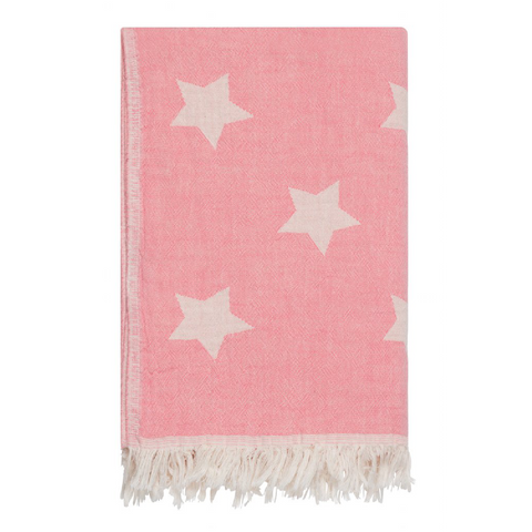 Cotton Star Throw in Blossom