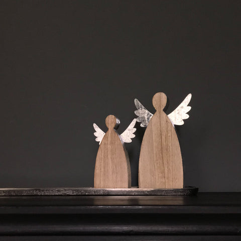 Standing Wooden Angel Small