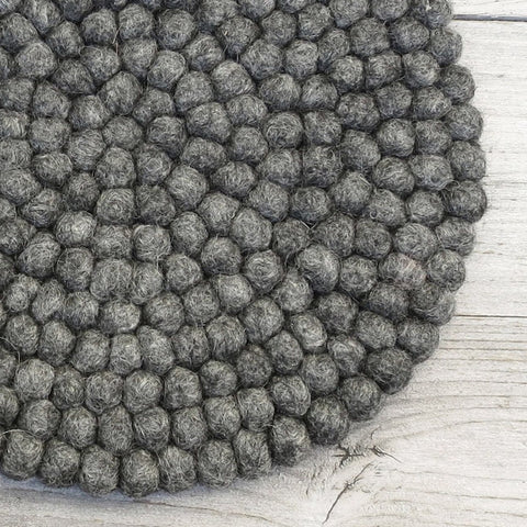 Handmade Felt Table Mat - Dark Grey