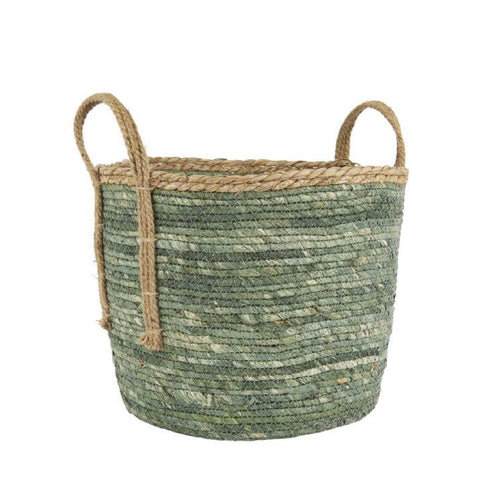 Green Rustic Basket - Large
