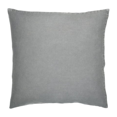 Grey Linen Square Cushion