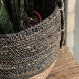 Black and Natural Rustic Basket - Small