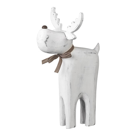 White Wooden Reindeer