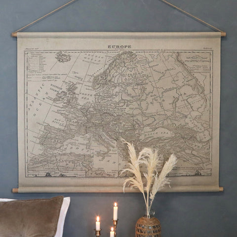 Map of Europe Canvas Wallhanging