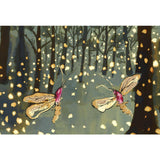 Fireflies Mounted Print by Anna Wright