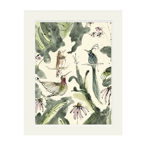 Hummingbird Mounted Print by Anna Wright