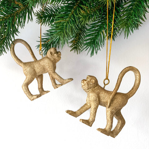 Golden Monkey Tree Decoration