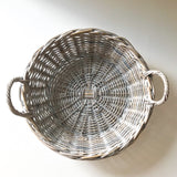 Round White Wash Basket
