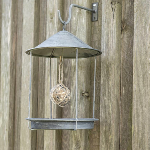 Round Zinc Bird Feeder House