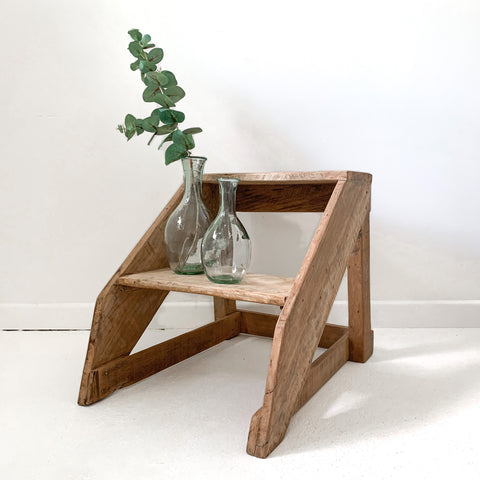 Recycled Teak Step Stool