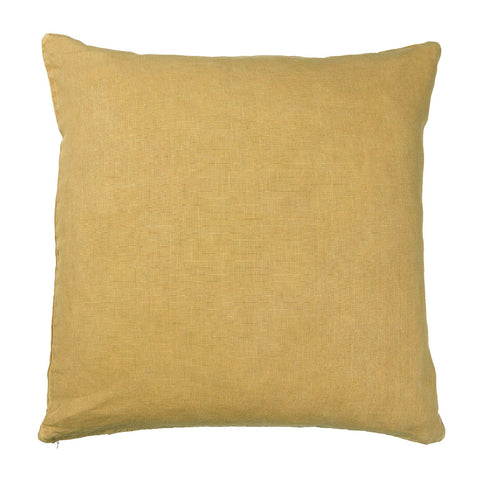 Mustard Linen Square Cushion