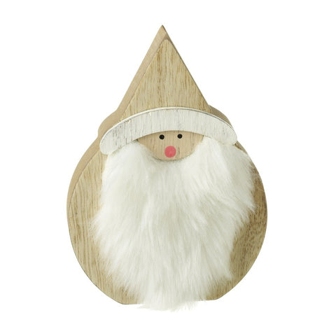 Wooden Standing Santa Decoration