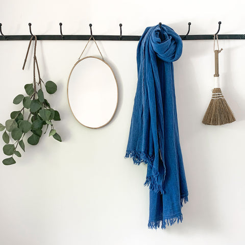 Soft Cotton Scarf in Cobalt Blue
