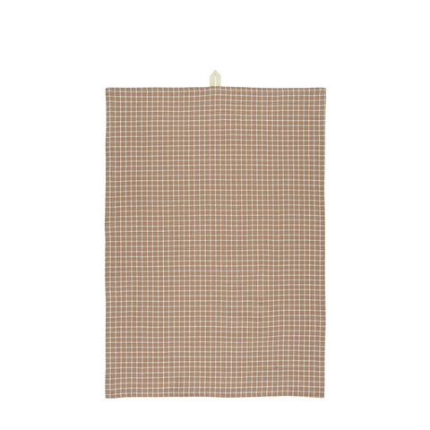 Cotton Teatowel with Checked Design