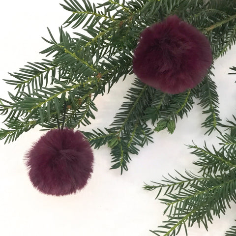 Small Fluffy Plum Bauble