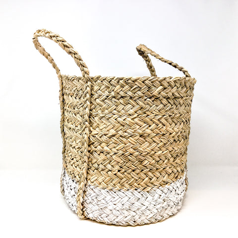 White Dipped Storage Baskets