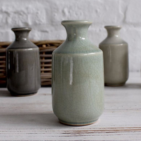 Ceramic Bottle - Green