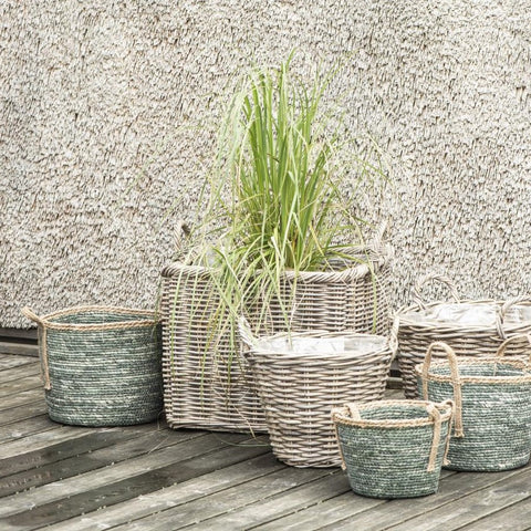 Green Rustic Basket - Small
