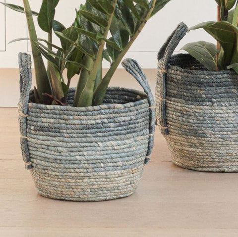 Blue Rustic Basket - Medium