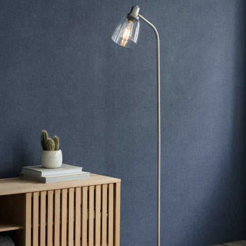 Hoxton Nickel Floor Lamp