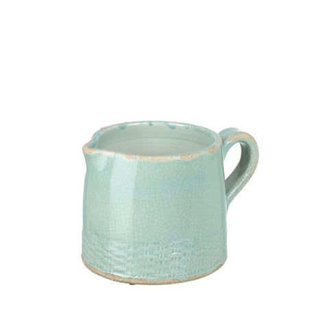 Sage Short Ceramic Pitcher Jug