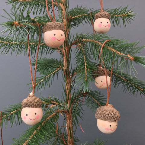 Acorn Head Christmas Tree Decorations