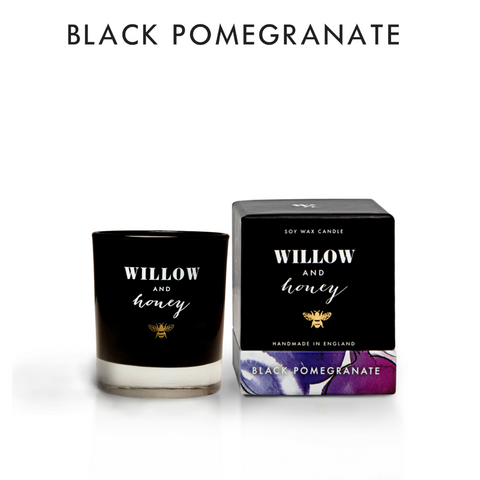 Willow and Honey Black Pomegranate Scented Candle