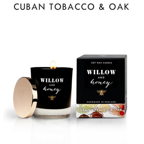 Willow and Honey Cuban Tobacco and Oak Scented Candle
