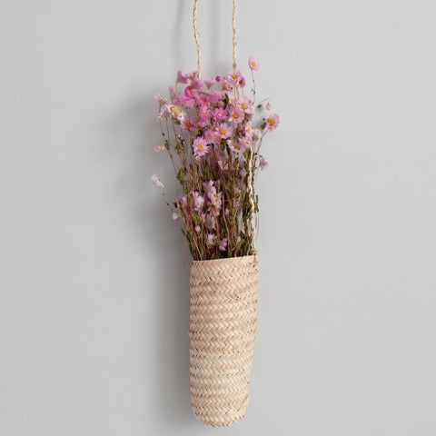 Hanging Palm Leaf Planter Basket