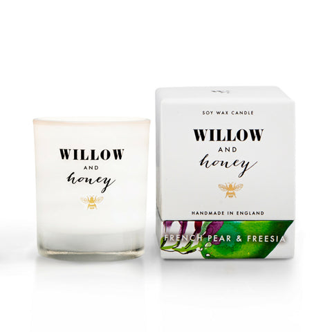 French Pear and Freesia Scented Candle Mini