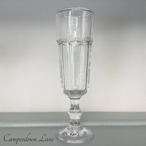 Champagne Flute with Beaded Design