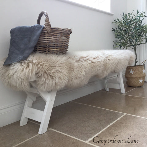 Double sheepskin oyster colour