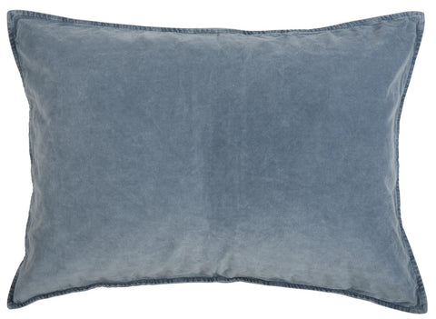 Large Rectangular Velvet Cushion Colonial Blue