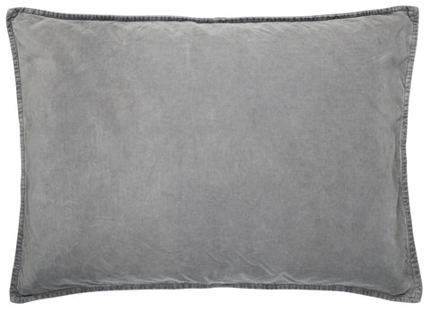 Large Rectangular Velvet Cushion Grey