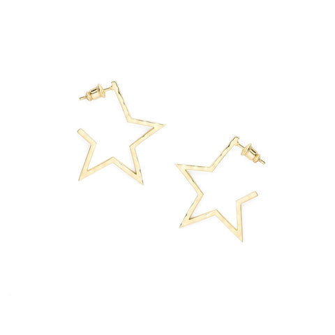 Neptune Gold Star Earrings
