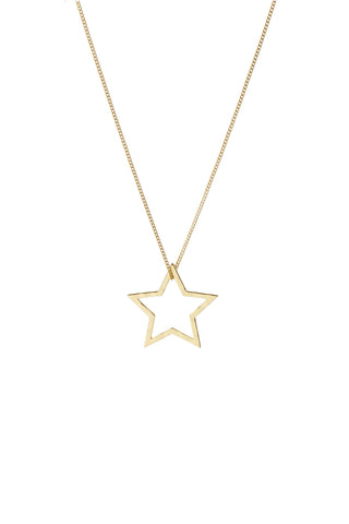Neptune Gold Star Necklace