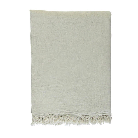 Cotton Throw in Natural