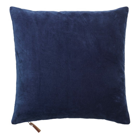 Velvet Square Cushion in Navy